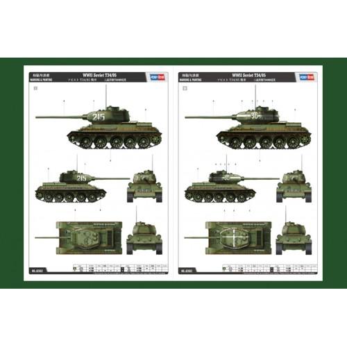 CARRO DE COMBATE T-34/85 -Escala 1/16- Hobby Boss 82602