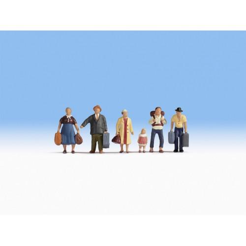VIAJEROS con equipaje (6 FIGURAS) ESCALA HO - NOCH 15218