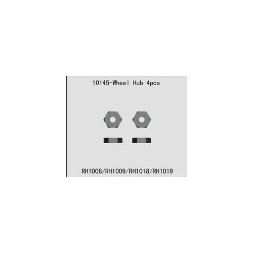 SET HEXAGONO RUEDAS - RIVER HOBBY RH10145 - VRX