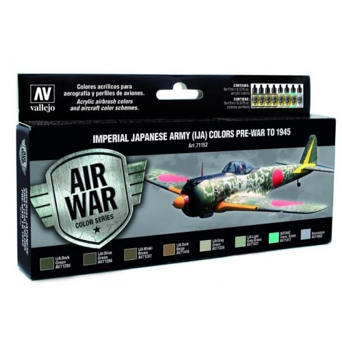 AIR WAR: Imperial Japonese Army (IJA) Pre-war to 1945 - Acrylicos Vallejo 71152