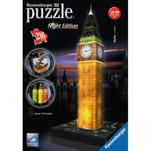 PUZZLE 3D 216 pzas. BIG BEN - Night Edition RAVENSBURGER 12588