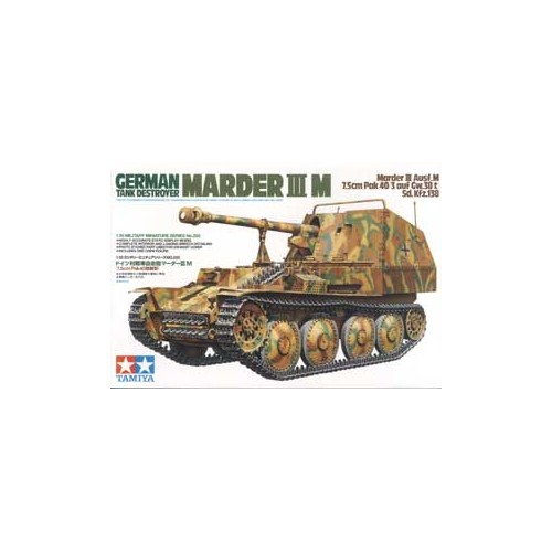 CAZA CARROS SD.KFZ. 138 PAK-40 (75 mm) MARDER III M -Escala 1/35- Tamiya 35255