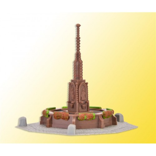 FUENTE DE CENTRO DE PLAZA (88 X 88 X 70 mm) -Escala H0 / 1/87- Kibri 38910