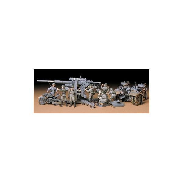CAÑON ANTIAEREO FLAK 36/37 (88 mm) & DOTACION 1/35 - Tamiya 35017