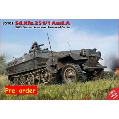 TRANSPORTE DE TROPAS SD.KFZ. 251/1 Ausf. A - ICM 35700