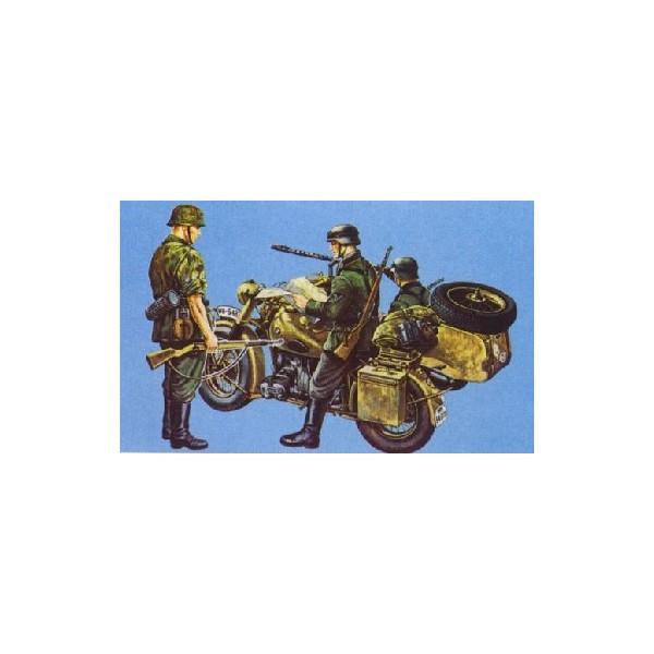 MOTOCICLETA BMW R75 Y SIDECAR -Escala 1/35 - ITALERI 315