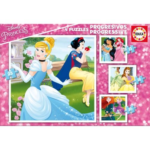 PUZZLE 12+16+20+25 PZS PRINCESAS DISNEY - EDUCA 17166