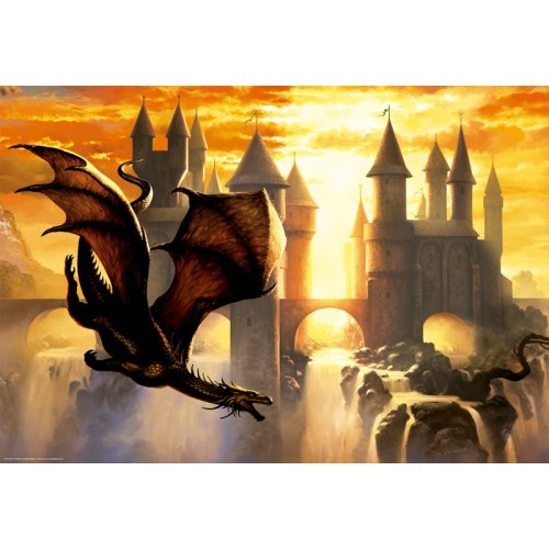 PUZZLE 1000 PZS SUNSET DRAGON - EDUCA 17312