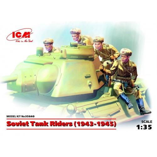 SOLDADOS SOVIETICOS SOBRE CARRO - ICM 35640