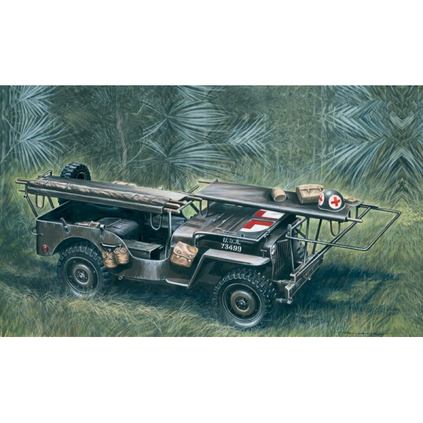 JEEP WILLYS AMBULANCIA - Italeri 326 - escala 1/35