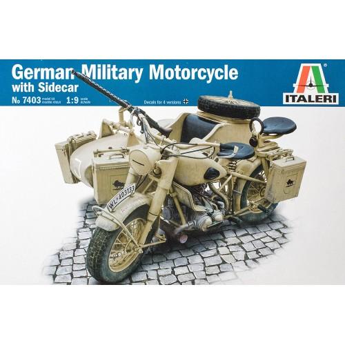 MOTOCICLETA BMW R75 CON SIDECAR ESCALA 1/9 ITALERI 7403