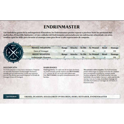 KHARADRONS OVERLORD ENDRINMASTER - GAMES WORKSHOP 84-34