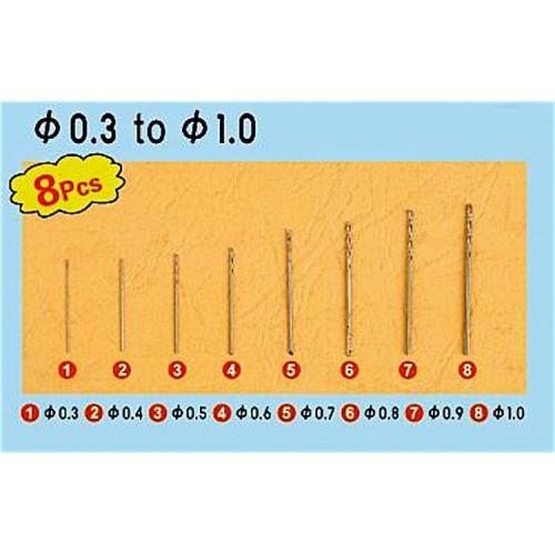 SET BROCAS (0,30 - 1,00 mm) 8 unidades - Trumpeter Master Tools 09954