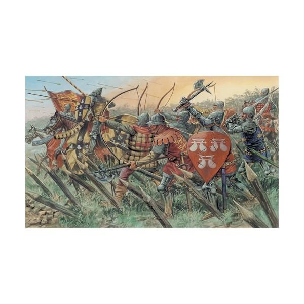 CABALLEROS & ARQUEROS INGLESES (Guerra de los 100 años) -Escala 1/72- Italeri 6027
