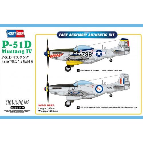 NORTH AMERICAN P-51 D MUSTANG MK-III - Hobby Boss 85806