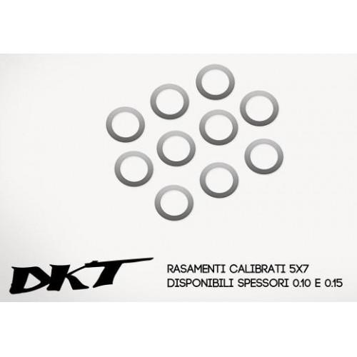 ARANDELA CALIBRADA (5 x 7 x 0.30 mm) 10 unidades - DKT OP040