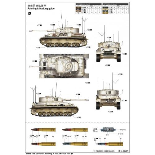 CARRO DE COMBATE Sd.Kfz. 161 Ausf. J PANZER IV -Escala 1/16- Trumpeter 00922