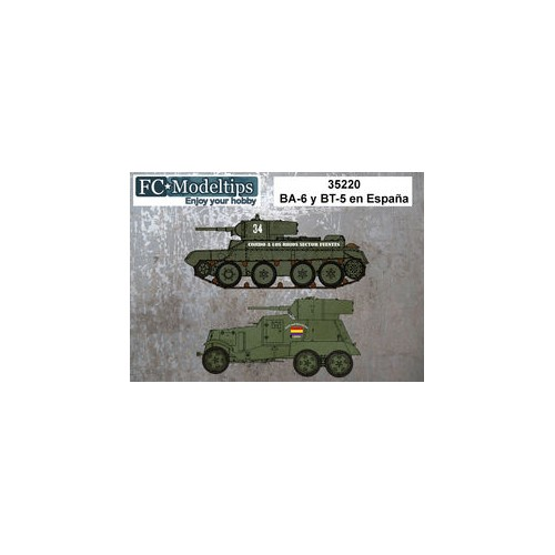 SET CALCAS CARRO BT-5 & BLINDADO BA-6 - FC Modeltips 35220