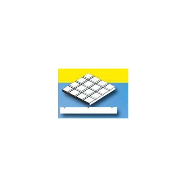 HOJA PLASTICO CUADRADO ACERA (12,7 x 12,7 mm) 1,0 mm (300 x 150 mm)