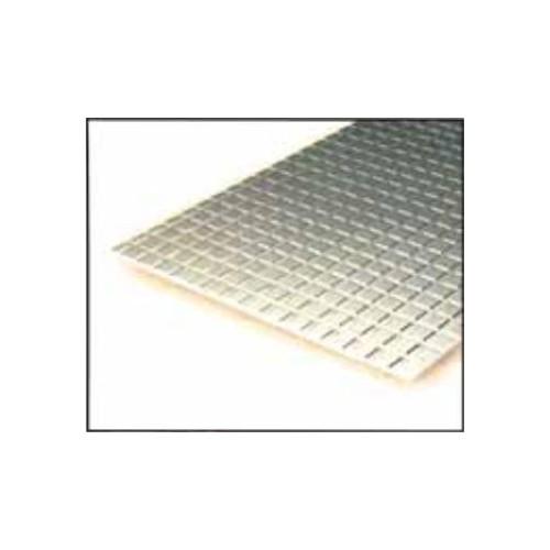 HOJA PLASTICO CUADRADO ACERA (4,8 x 4,8 mm) 1,0 mm (300 x 150 mm)