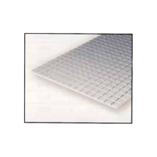 HOJA PLASTICO GRABADA-V 0,75 mm 0 COCHE VIAJEROS (300 x 150 mm)