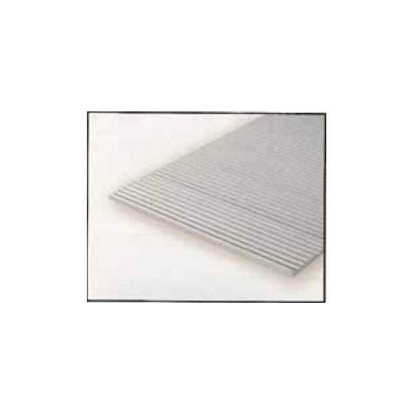 HOJA PLASTICO GRABADA-V 0,5 mm Sep. 0,75 mm (300 x 150 mm)