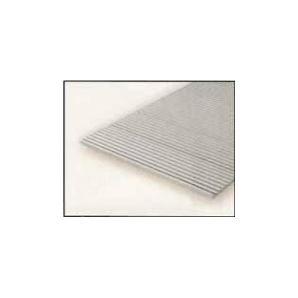 HOJA PLASTICO GRABADA-V 0,5 mm H0 VAGONES MERCANCIAS (300 x 150 mm)