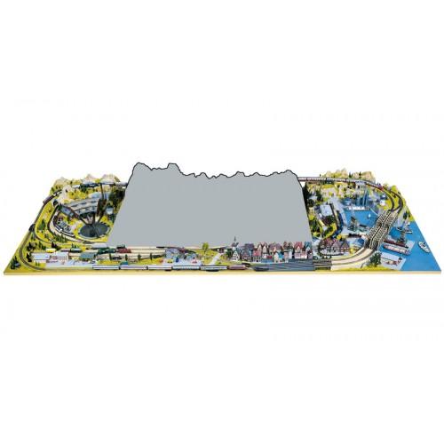 TOPORAMA: EXTENSION FRONTAL SILVRETTA / LUZERN (2200 X 400 mm) Escala H0