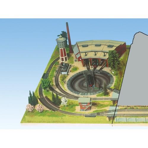 TOPORAMA: EXTENSION LATERAL IZQUIERDA DREHSCHEIBE (700 x 1200 mm) Escala H0
