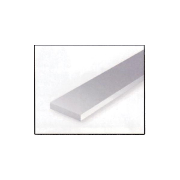 VARILLA RECTANGULAR PLASTICO (2 x 6,3 x 360 mm) 7 unidades