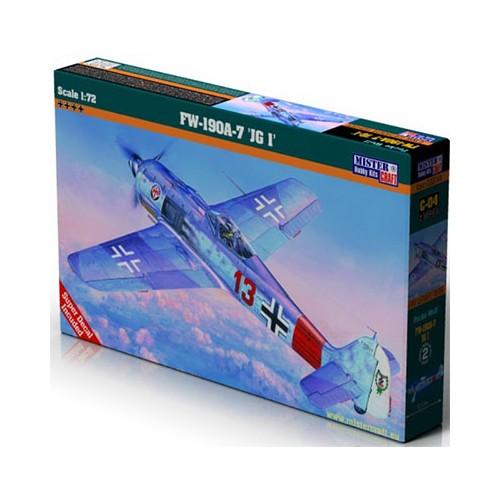 FOCKE WULF Fw-190 A-7 JG.1 - ESCALA 1/72 - Mister Craft 030049