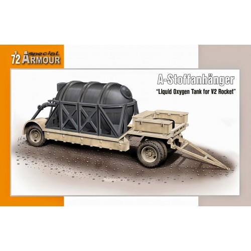 A-STOFFANHANGER - REMOLQUE CON TANQUE DE OXIGENO PARA COHETE V-2  -1/72- Special Armour SA72015