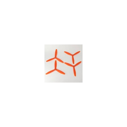 SET 4 HELICES TRIPALAS 4 x 4,5 (normal + invertida) NARANJA - Gemfan 3935
