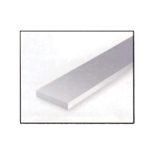 VARILLA RECTANGULAR PLASTICO (0,5 x 2,5 x 365 mm) 10 unidades