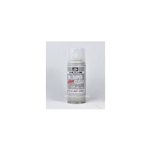 SPRAY BARNIZ MATE (170 ml) -Mr. SUPER CLEAR FLAT UV CUT - Gunze Sagyo B523:800