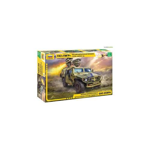 COCHE BLINDADO TIGER & Sistema de Misiles -KORNET-D- Zvezda 3682