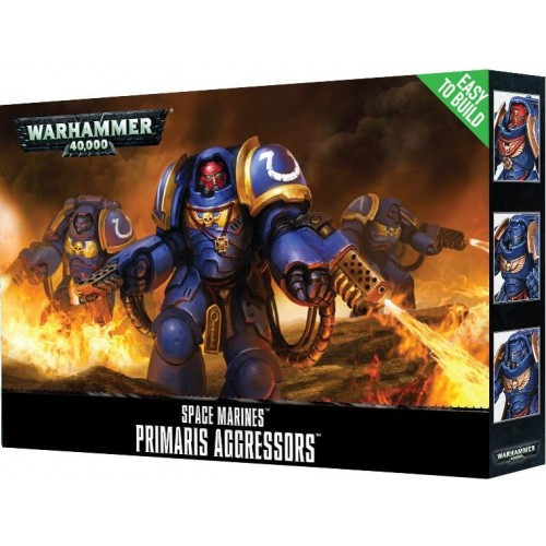 SPACE MARINES PRIMARIS AGGRESSORS EASY TO BUILD - GAMES WORKSHOP 48-86