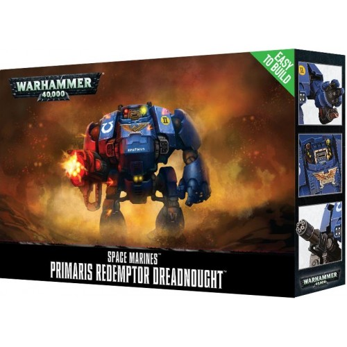 SPACE MARINES PRIMARIS REDEMTOR DREADNOUGHT EASY TO BUILD - GAMES WORKSHOP 48-87