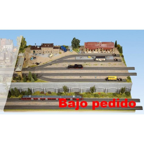 TOPORAMA: MODULO ESTACION HEIDELBERG (1200 x 800 x 160 mm) Escala H0