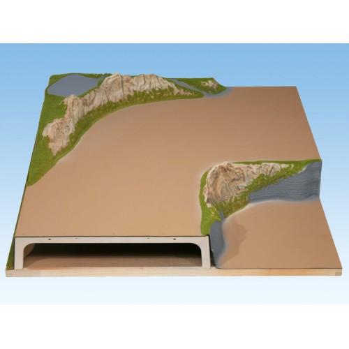 TOPORAMA: MODULO ESQUINA HEIDELBERG (1000 x 1000 mm) Escala H0