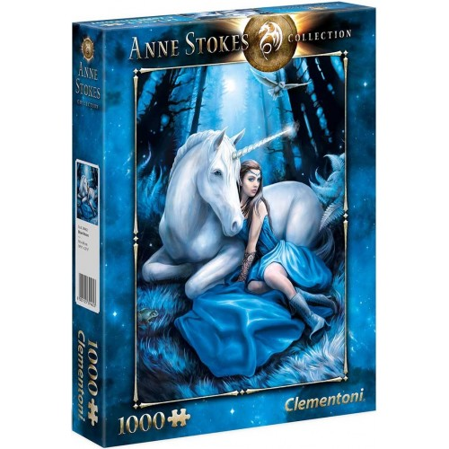 PUZZLE 1000 pzs Anne Stokes Collection: BLUE MOON - Clementoni 39462
