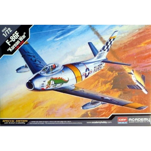 NORTH AMERICAN F-86F SABRE KOREAN WAR - ESCALA 1/72 - ACADEMY 12546