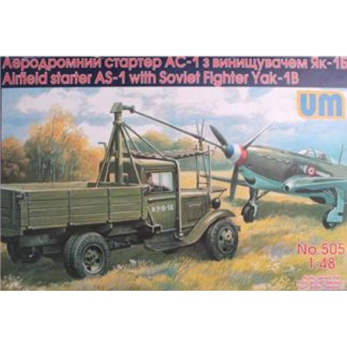 CAMION CON ARRANQUE AS-1 & YAKOLEV YAK-1 - UM MODELS 505