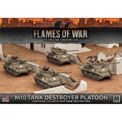 PELOTON DESTRUCTORES DE CARROS M-10 - Flames of War UBX53