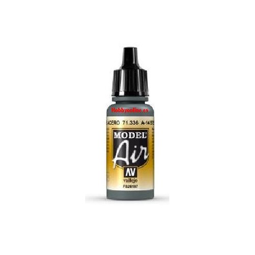 PINTURA ACRILICA GRIS ACERO A-14 (17 ml) - Vallejo 71336