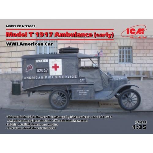 AMBULANCIA FORD Mod. T -1917- 1/35  - ICM 35665