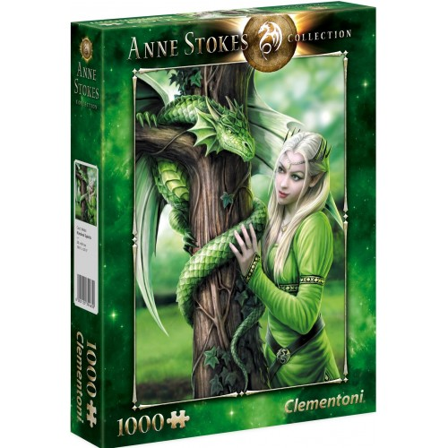 PUZZLE 1000 pzs Anne Stokes Collection: KINDRED SPIRITS - Clementoni 39463