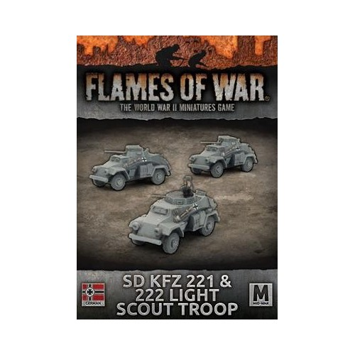 PELOTON Sd.Kfz. 221 & 222 RECONOCIMIENTO - 3 unidades - Flames of War GBX112