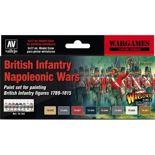 WARGAMES SET BRITISH INFANTRY NAPOLEONIC WARS - ACRILICOS VALLEJO 70163