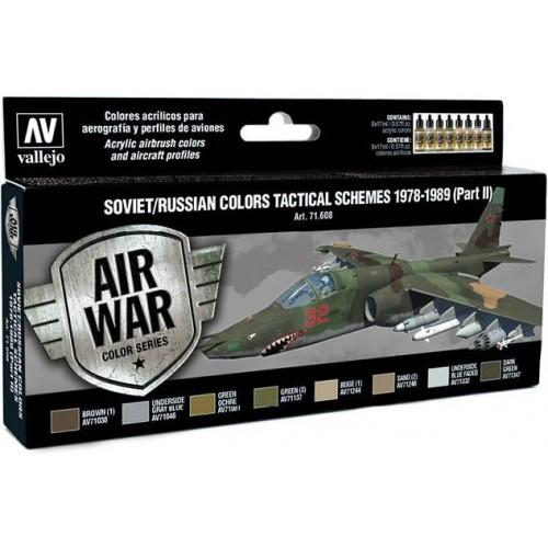MODEL AIR SET: SOVIET-RUSSIAN AF SCHEME TACTICAL 2 1978-1989 COLORS - Acrylicos Vallejo 71608